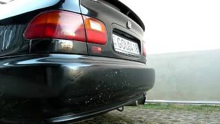 Honda Civic Coupe EJ2 HD Racing exhaust sound