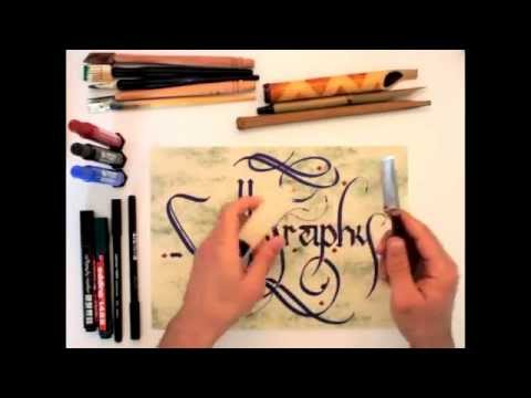 Calligraphy tutorial - for beginners