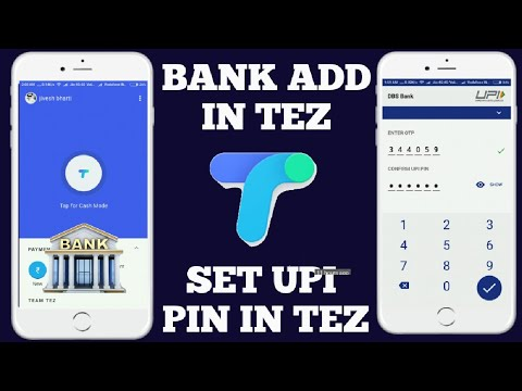 How to bank add in tez Google upi app || how to set upi pin in tez Google upi app || upi pin set ||