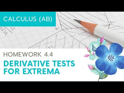 Calculus AB Homework 4.4: Relative Extrema