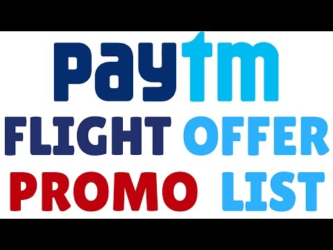 PayTm Flight Promo (Coupons) Code List With Offers