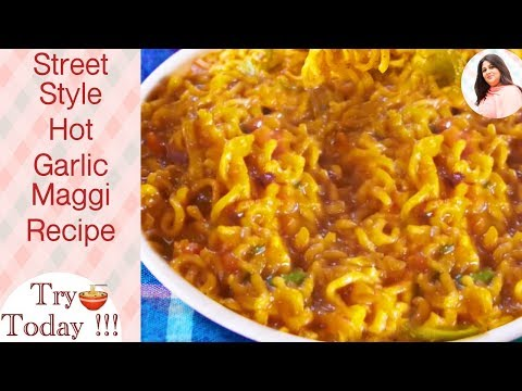 New Hot Garlic Maggi recipe, Masala Maggi Recipe Indian Style, Indian Street Food