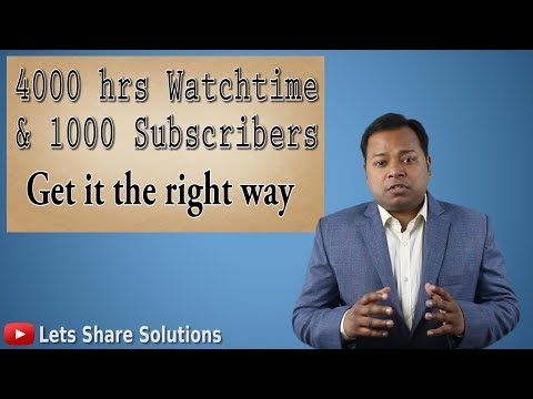Get your first 1000 subscribers and 4000 hours watch time | NO SHORTCUT Method
