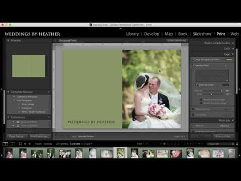 Lightroom Tutorial - Creating a Collage in the Print Module Part 2