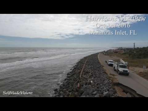 DJi Phantom 4 - 4k - Matanzas Inlet, Florida damage after Hurricane Matthew