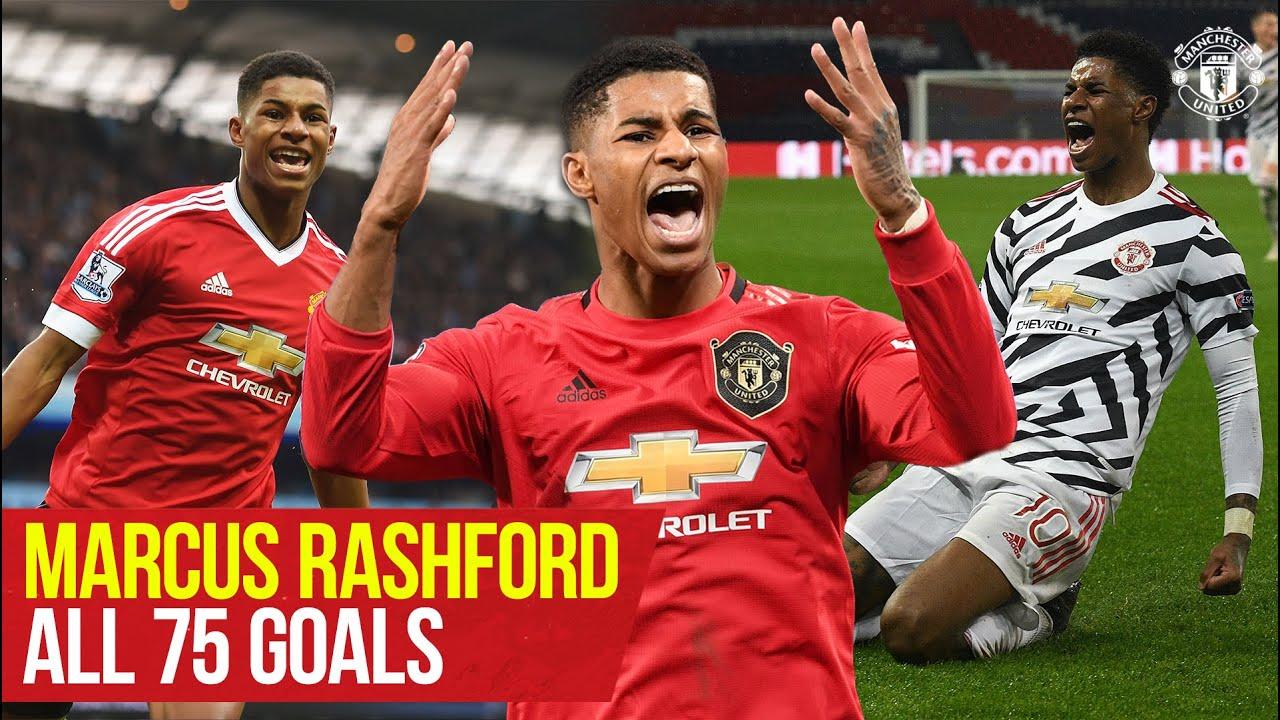 Marcus Rashford reaches 75 goals for Manchester United | Every Goal
