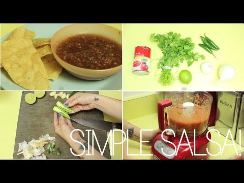 simple & delicious homemade salsa! ☠ recipe & how to.