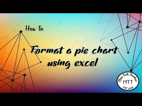 IGCSE ICT (0417) Formatting a pie chart in Excel (2007)
