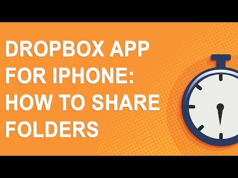 Dropbox app for iPhone: How to share folders