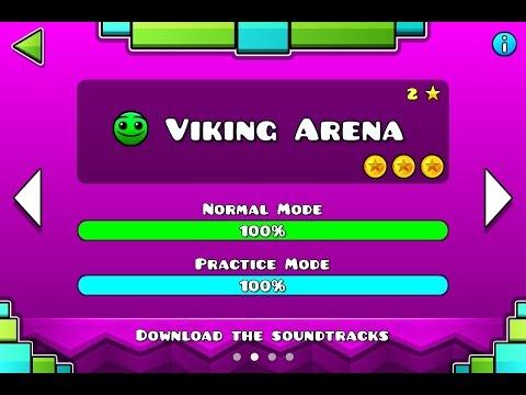 GEOMETRY DASH MELTDOWN - Level #2 - Viking Arena - (All Secret Coins) -