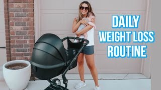 DAILY WEIGHT LOSS ROUTINE   WHAT I EAT + WORKOUT ROUTINE