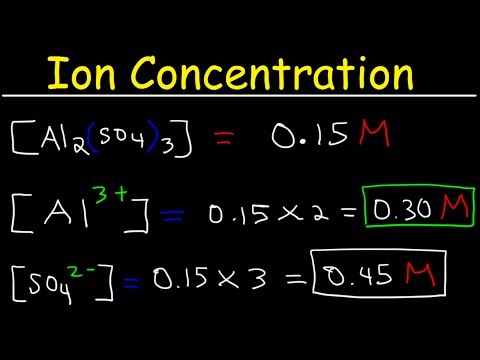 Ion Concentration in Solutions From Molarity, Chemistry Practice Problems