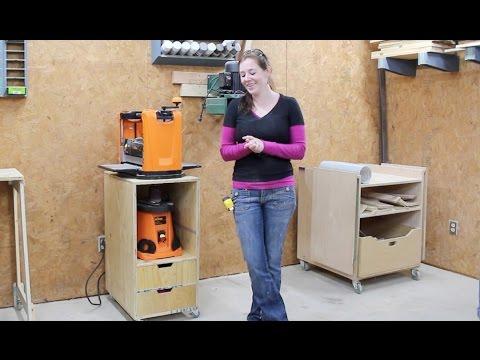 Build a Mobile Shop Cart - Planer Stand