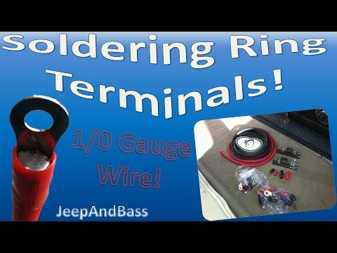 How To Solder Ring Terminals for 1/0 Gauge Power Wire