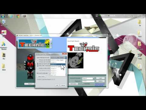 Check/change Version# 4Technic launcher yogbox hack / mine and voxel /w technic launcher