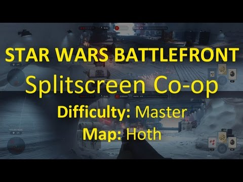 Playing Survival with Splitscreen Co-op in Star Wars Battlefront
