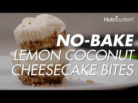 No-Bake Lemon Coconut Cheesecake Bites