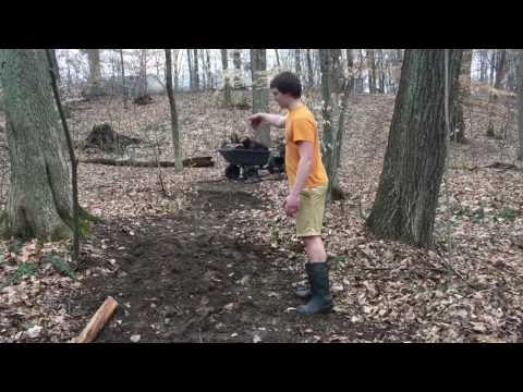 Building MTB creek gap - 25ft gap