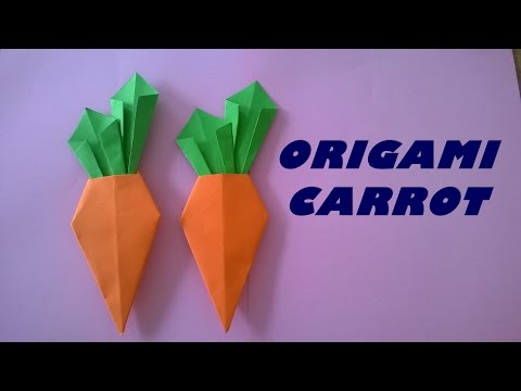How to make a paper carrot | Carrot origami | Carrot craft