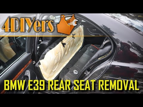 How to Remove the Rear Seat on a BMW E39