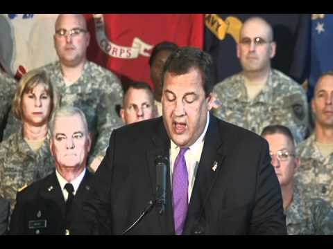 Governor Christie: Assisting New Jersey's Military Veterans & Citizen Soldiers