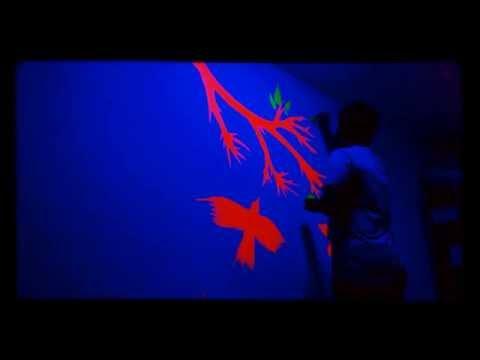 fluorescent colour  paint DIY