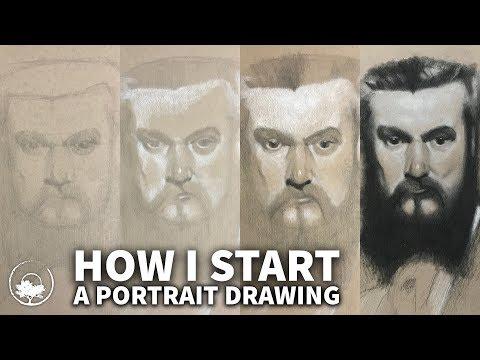 How I Start a Portrait Drawing