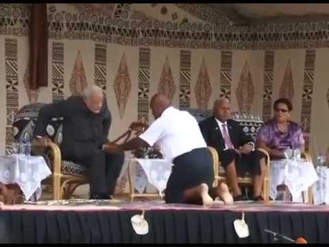 PM Modi gets a Traditional Fijian Yaqona Welcome in Fiji