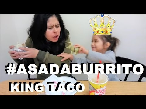 CARNE ASADA BURRITO WITH THE KING - KING TACO MEXICAN RESTAURANT - LOS ANGELES EATS