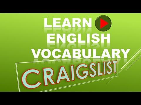 Learning English Vocabulary with Craigslist
