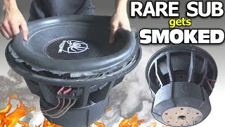 """BLOWING a $1000 SUBWOOFER... in 3 Minutes?? RARE 18"""" Sub BLOWOUT 