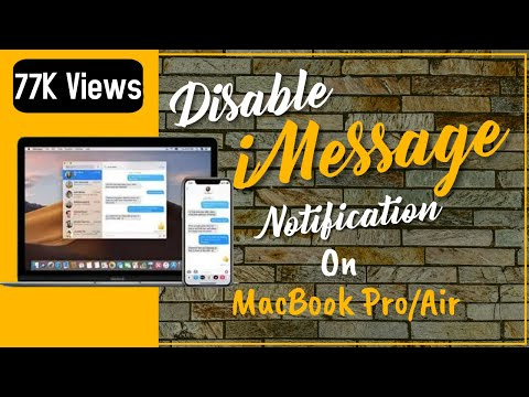 How to Turn Off iMessage Notifications on MacBook Pro/Air