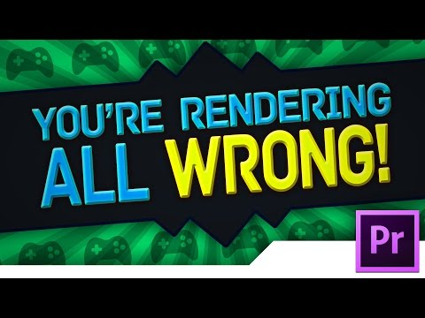 [TUTORIAL] GAMING: BEST QUALITY Premiere Pro CC 2014 Render Settings for YouTube Videos (Minecraft)