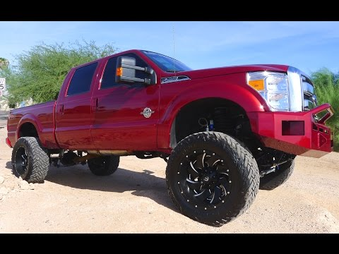 2015 FORD F-250 SUPER DUTY LARIAT CREW CAB DIESEL LIFTED TRUCK FOR SALE