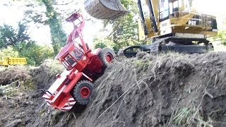 Bergung Des O&k L25 Radlader Mit Bagger Cat 5110b | Rescue Of Rc Wheel Loader With Excavator