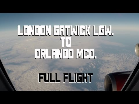 Virgin Atlantic London Gatwick LGW to Orlando MCO 2015