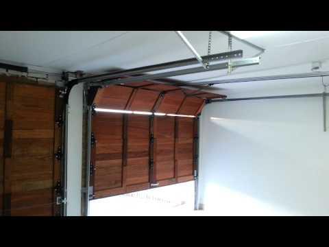Wooden Sectional Garage Door Automated