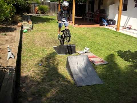 back yard bike jump
