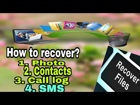 How to recover SMS, Contacts, Call log & Photos | Tech Suggestion