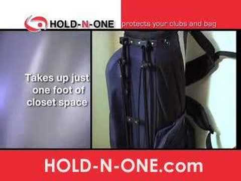 As Seen on TV -- Hold-n-One golf bag holder Garage Organizer