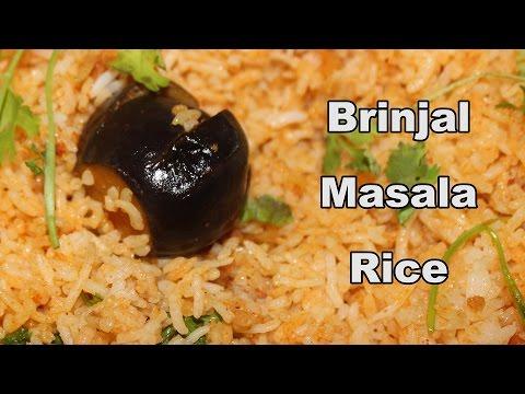 Brinjal Masala Rice @ mana Telangana Vantalu