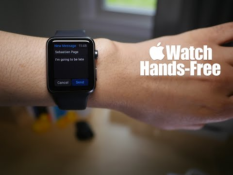 Apple Watch: Completing actions hands-free with Siri