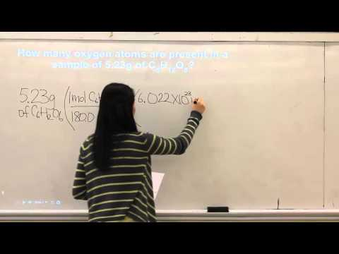 Chemistry - Stoichiometry (Determining Number of Atoms)