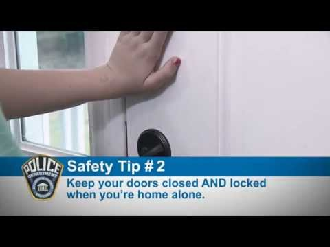Police Safety Tips: Kids Home Alone