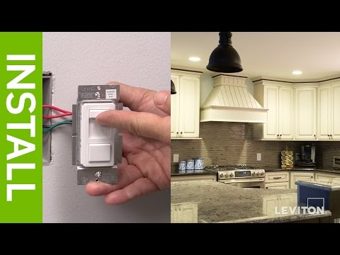 Leviton Presents: How to Install a SureSlide 6674 Dimmer and a IllumaTech IPL06 Dimmer