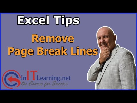 Remove Page Break Lines in Excel