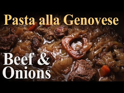Best Pasta alla Genovese Recipe - Beef & Onion Sauce