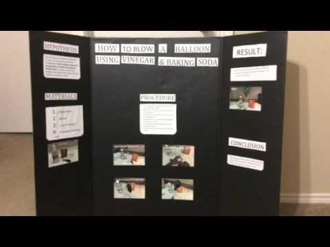 Blowing balloon using Vinegar , Baking soda Experiment - Science Fair Project
