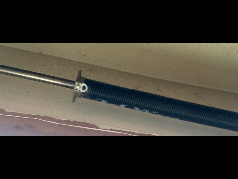 How to replace a Garage Door Spring.