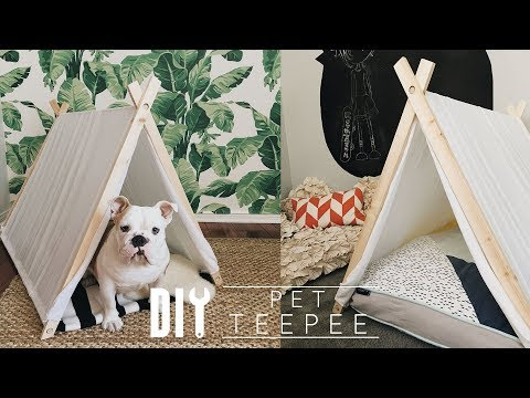 DIY Pet Tee Pee